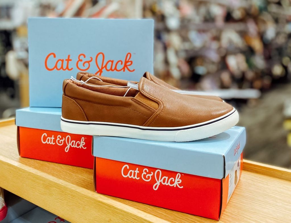 boys shoes on a shoe box