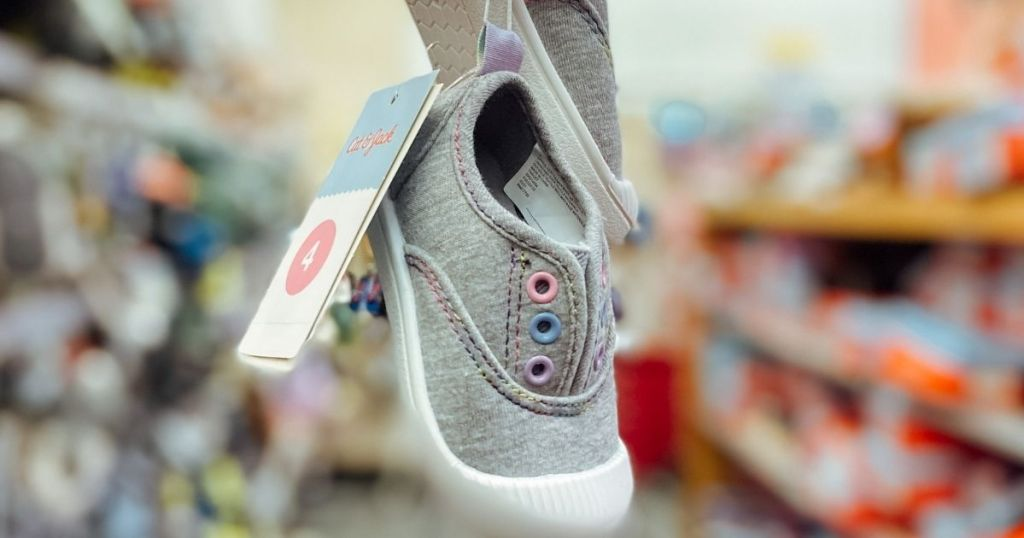 pair of kids shoes