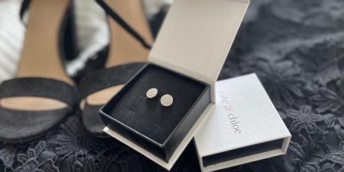 Cate & Chloe 18K Gold Plated Earrings w/ Swarovski Crystals Only $15.59 Shipped | Great Gift Idea