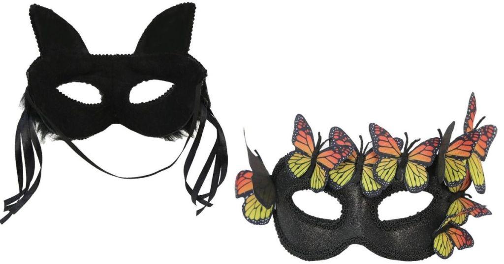 two Halloween masks