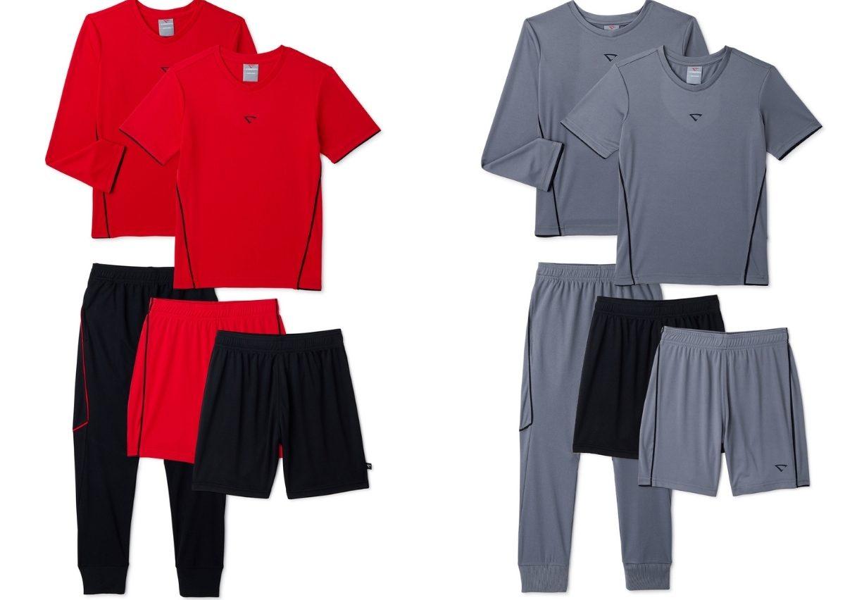 Cheetah Boys Performance Shirts, Shorts, and Pants 5-Piece Set