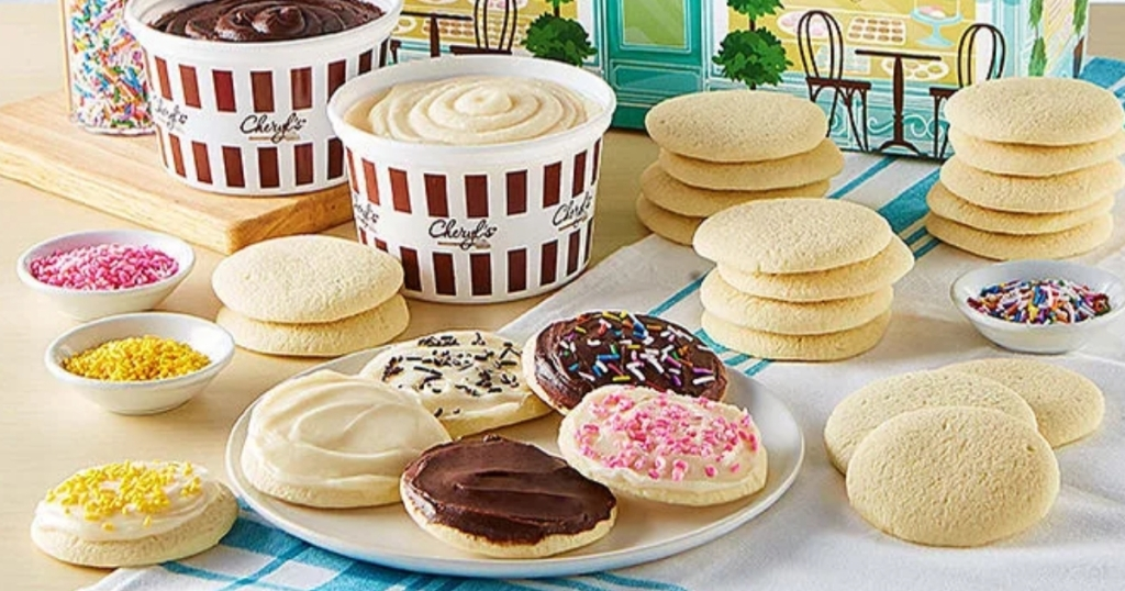 cheryl's cookies decorating kit with frosting and sprinkles