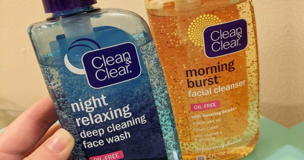holding clear & clear cleansers