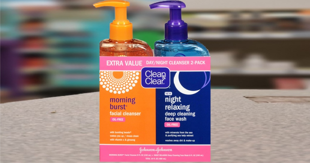 Clean & Clear Day & Night Facial Cleanser 2-Pack