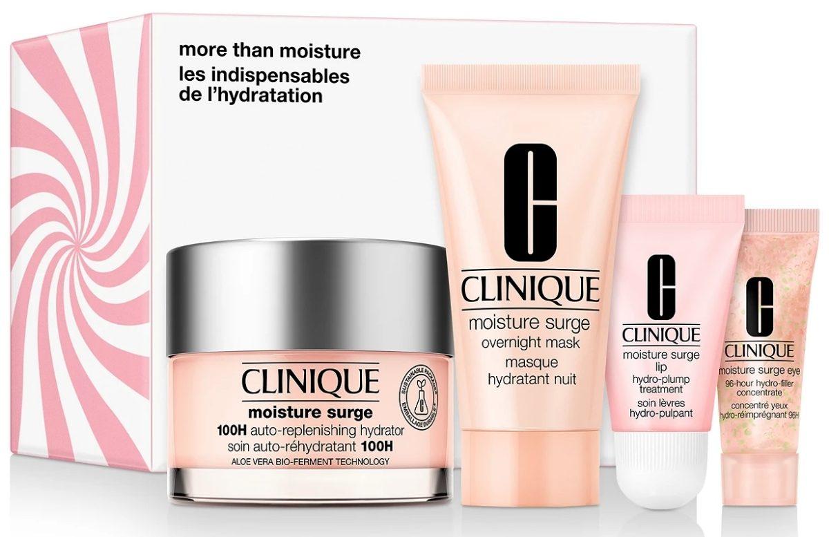 clinique moisture surge 4-piece moisturizing skincare sets