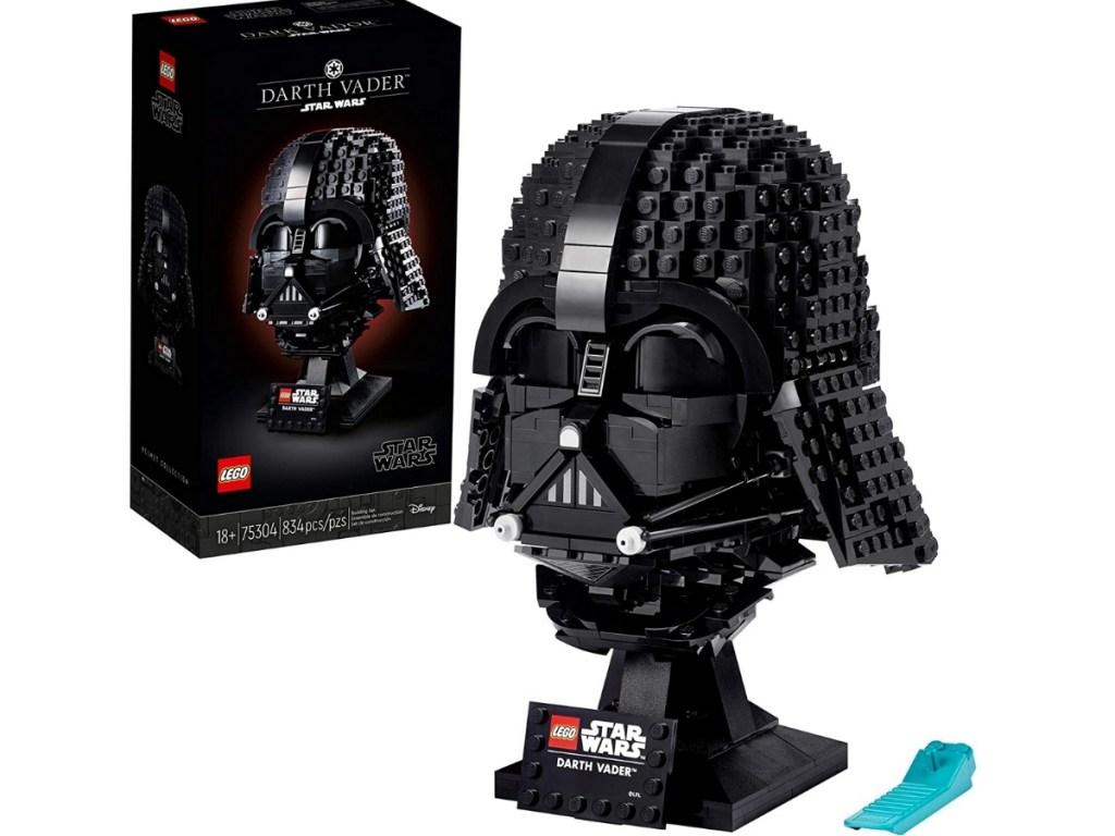 darth vader helmet lego building set