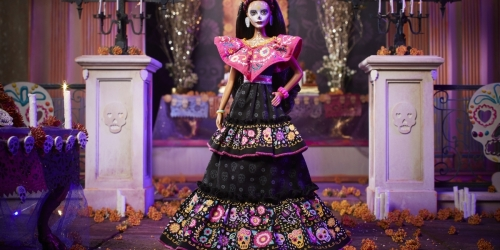 Barbie 2021 Dia De Muertos Collectors Doll w/ Embroidered Dress Only $75 Shipped on Walmart.com | Includes Doll Stand