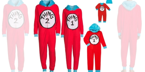 Dr. Seuss Thing 1 & 2 Matching Family Pajamas from $7.50 on Walmart.com (Regularly $15)