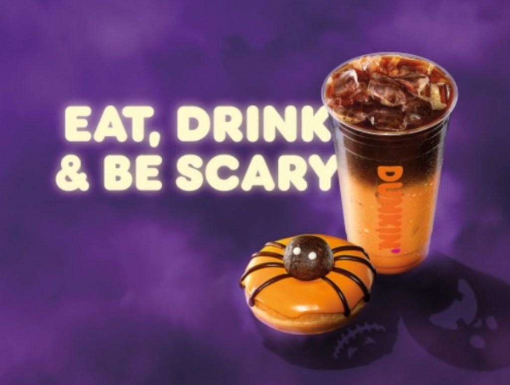 Halloween menu items from Dunkin
