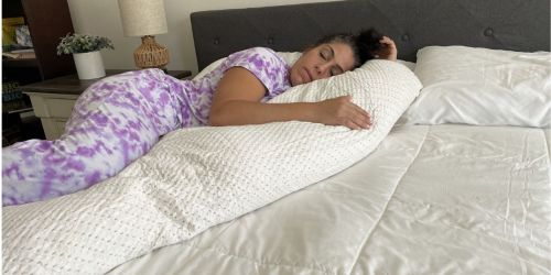 Memory Foam Body Pillow Only $29.99 Shipped on Amazon   Great for Pregnancy & Back Support