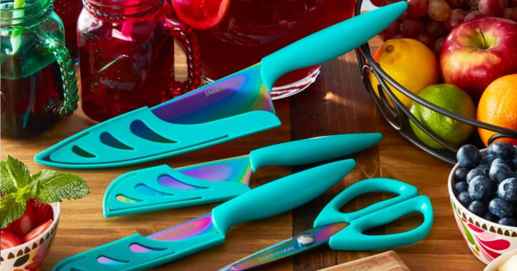 Farberware 11-piece Rainbow Titanium Weapon Set Conscionable $19.83 On Walmart.com (regularly $35)