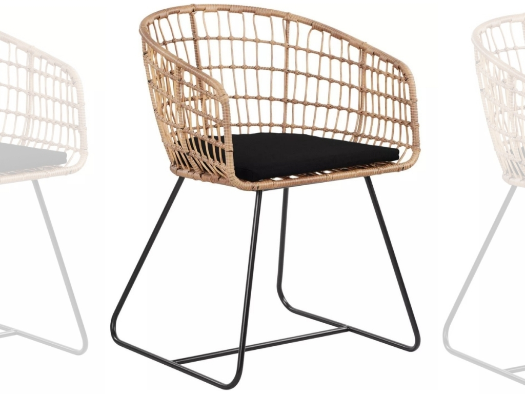 Finch Grayham Rattan Lounge Chair in Black