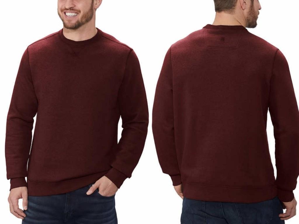 men's gh bass & co crewneck sweatshirt in red