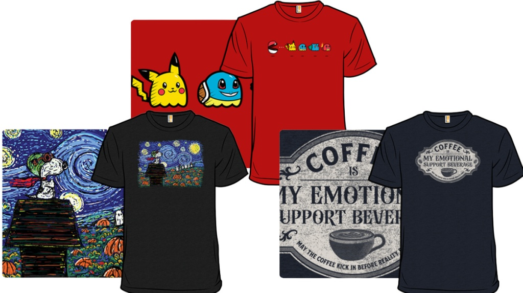 Graphic tees from Woot