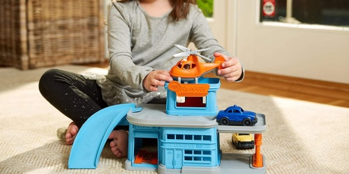 Green Toys Parking Garage + 3 Vehicles Just $19.99 on Amazon and Walmart.com (Regularly $40)