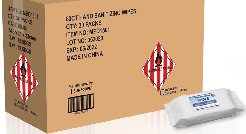 Hand Sanitizing Wipes Case