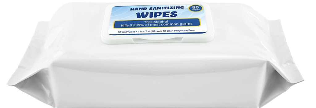 package of Hand Sanitizing Wipes