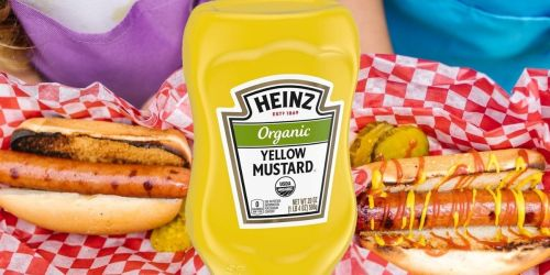 Heinz Organic Yellow Mustard 6-Pack Only $9 Shipped on Amazon (Regularly $28)