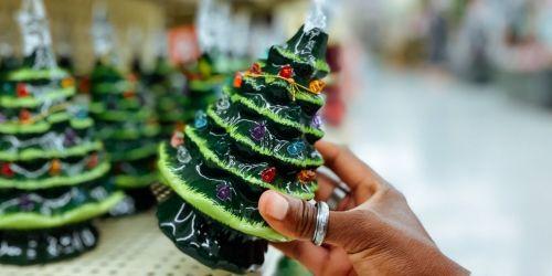 50% Off Light Up Ceramic Christmas Trees at Hobby Lobby