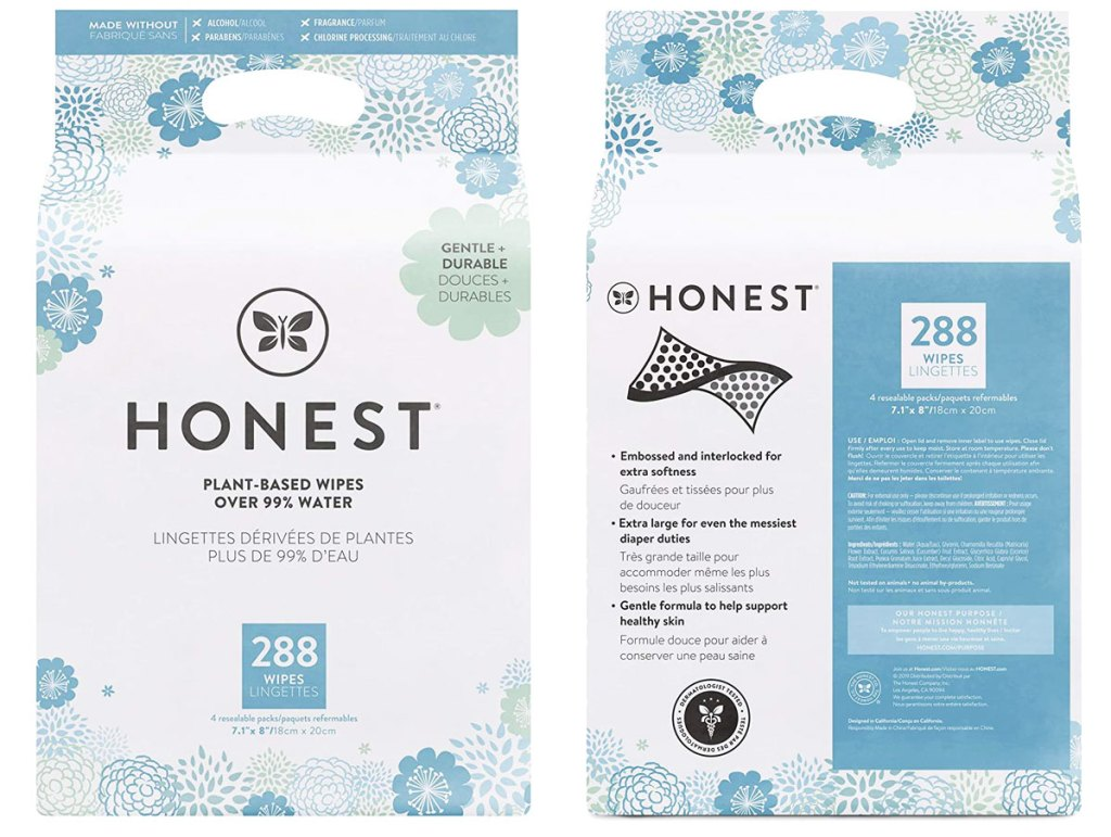 large packs of honest company baby wipes