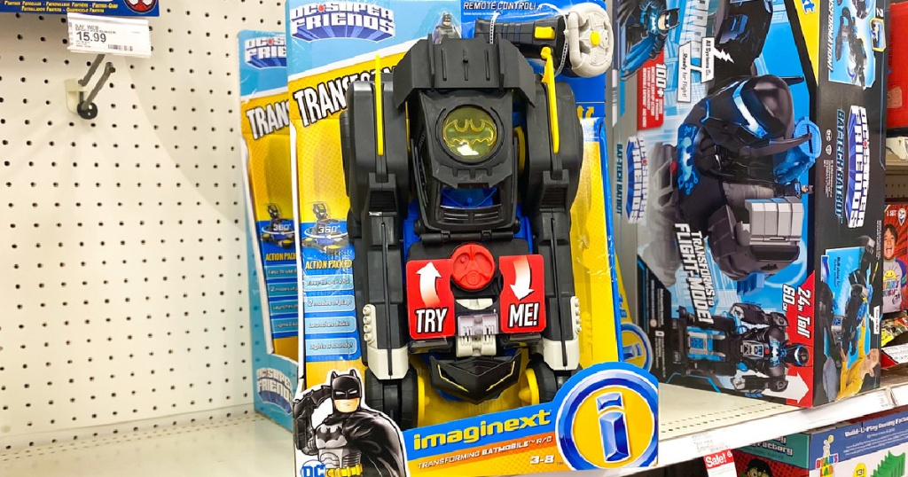 Imaginext Transforming Distant Power Batmobile Lone $50.99 Shipped On Mark.com (regularly $79)