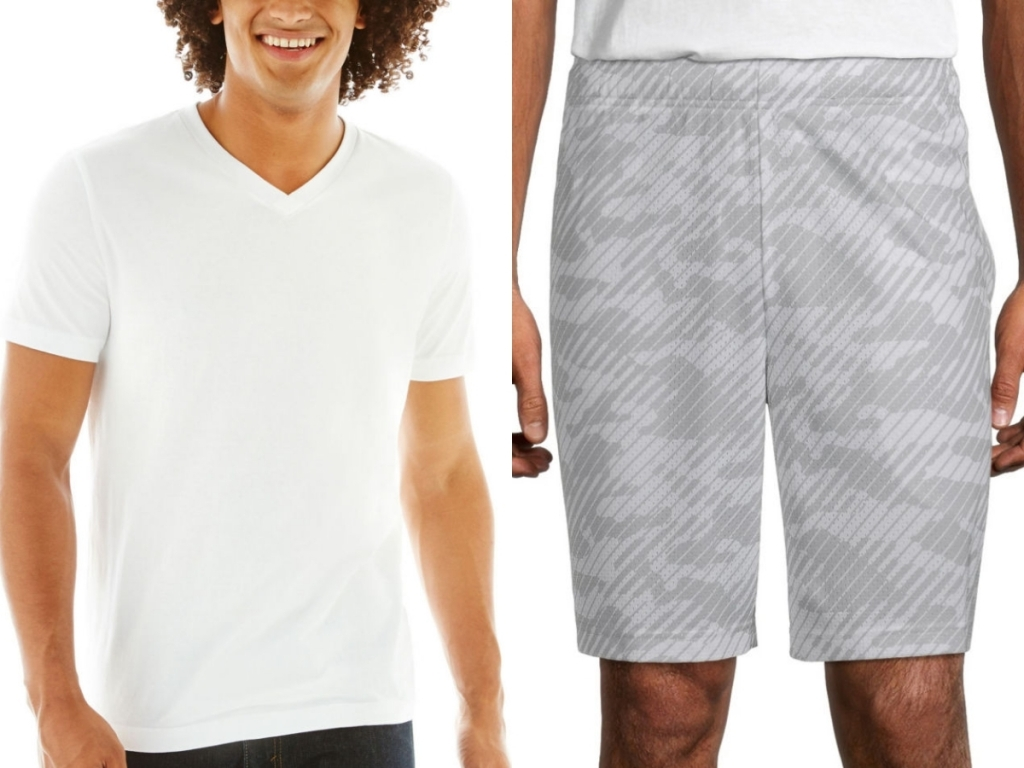 jcpenney men's tee and shorts