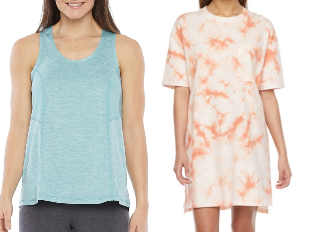 women's tank top and dress from jcpenney