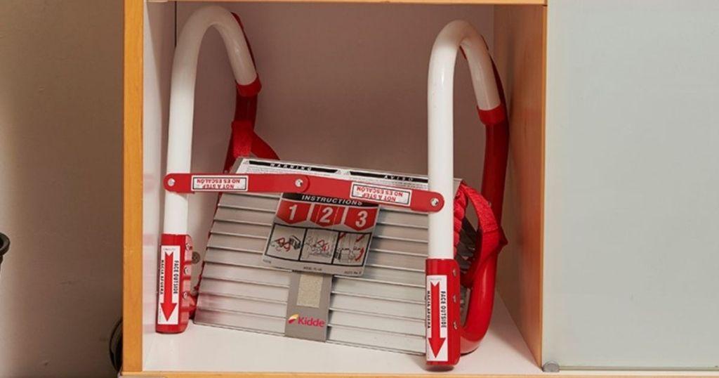 Kidde Fire Escape Ladder on a shelf
