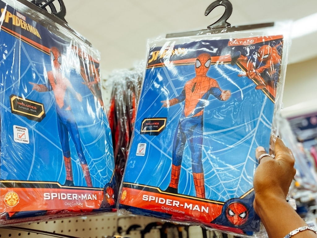 kids marvel spider-man halloween costume in store