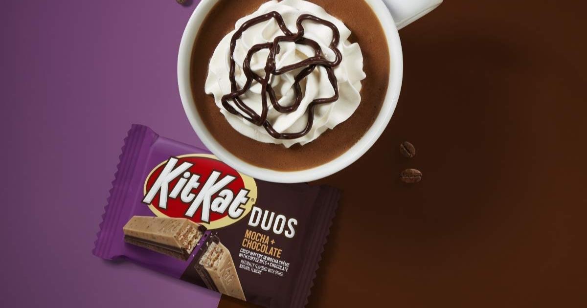 KitKat Mocha bar by a cup of mocha
