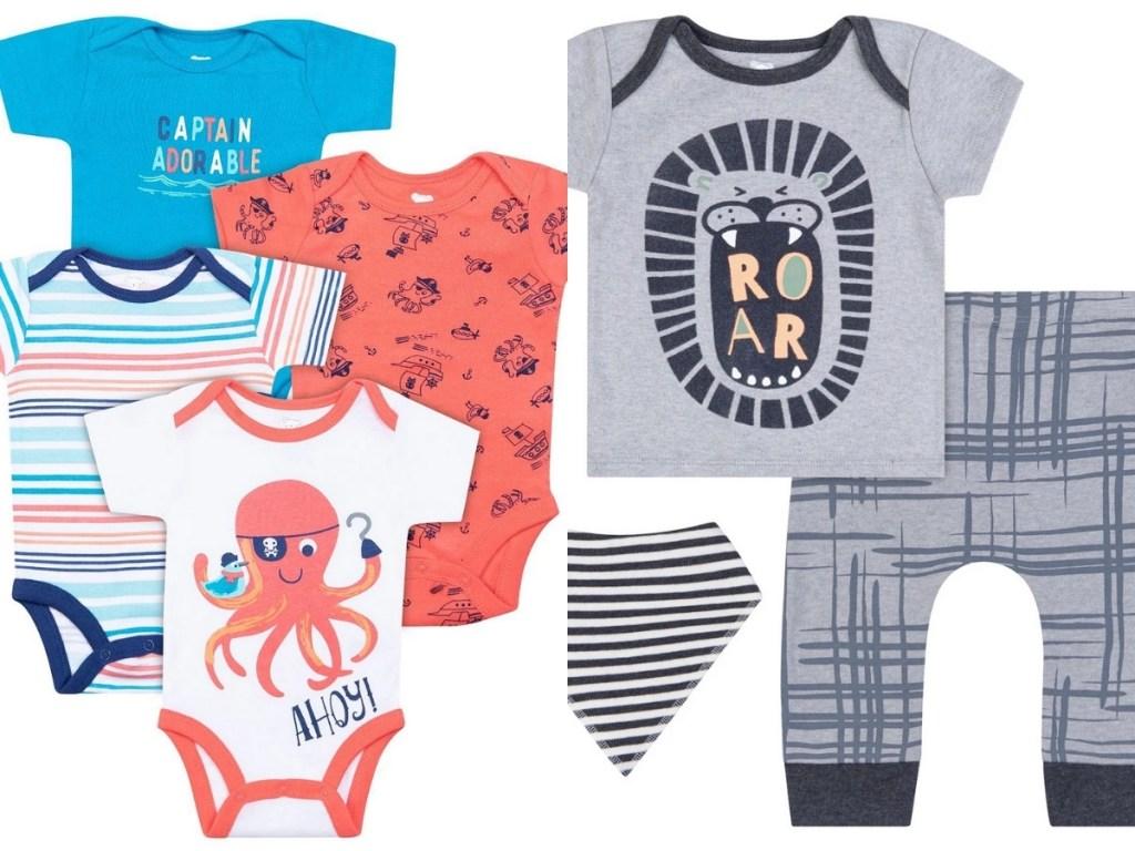 baby boys koala brand octopus set and lion set
