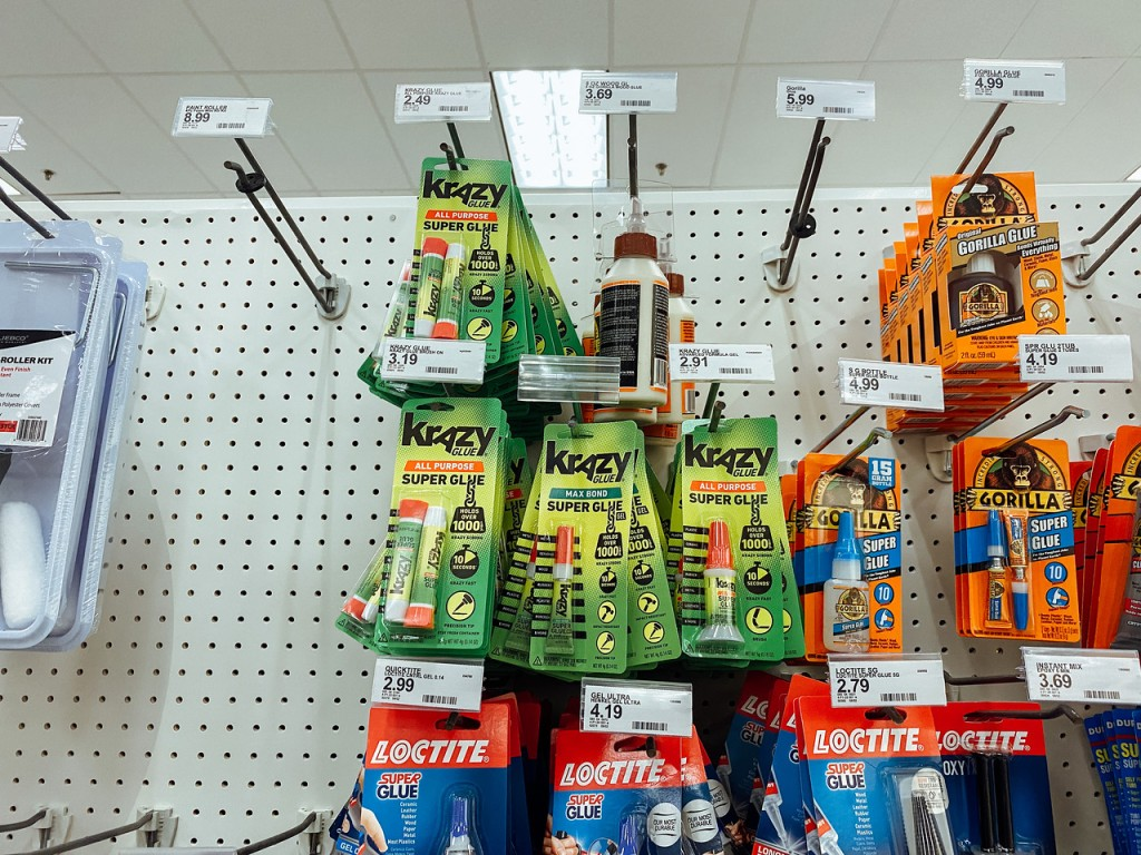 Krazy Glue Hanging at Target
