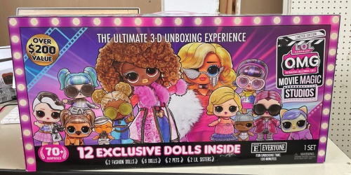 L.O.L. Surprise! O.M.G. Movie Magic Studios w/ 12 Exclusive Dolls from $74.99 Shipped on Target.com (Regularly $136)