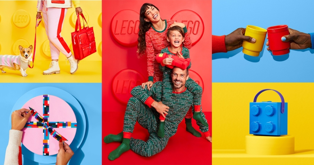 brightly colored LEGO-inspired products