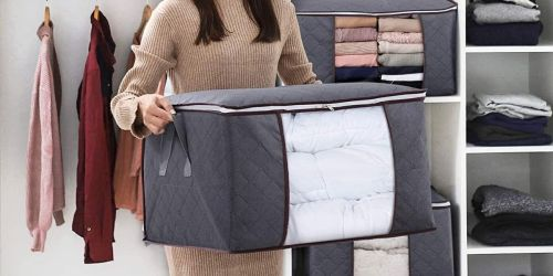 Three Pack of Large Storage Bags w/ Clear Windows Only $11.99 on Amazon   Just $3.99 Each