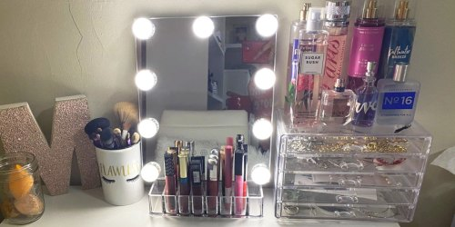 Lighted Vanity Mirror w/ Touch Screen Controls Only $27.59 Shipped on Amazon | Great Teen Gift Idea!