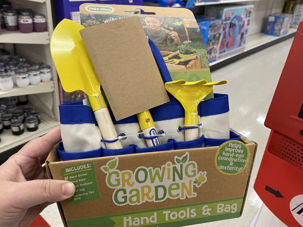Little Tikes Growing Garden Gardening Hand Tools & Bag