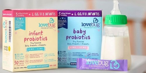 LoveBug Infant & Baby Probiotic 30-Count Packets from $7.97 Shipped on Amazon | Easily Add to Bottles