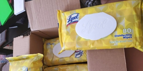 Lysol Disinfecting Wipes 320-Count Only $9.97 Shipped on Amazon | Just $2.49 Per Pack