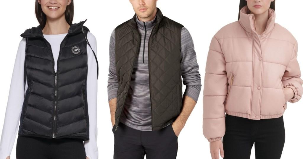 macy's men's and women's coats