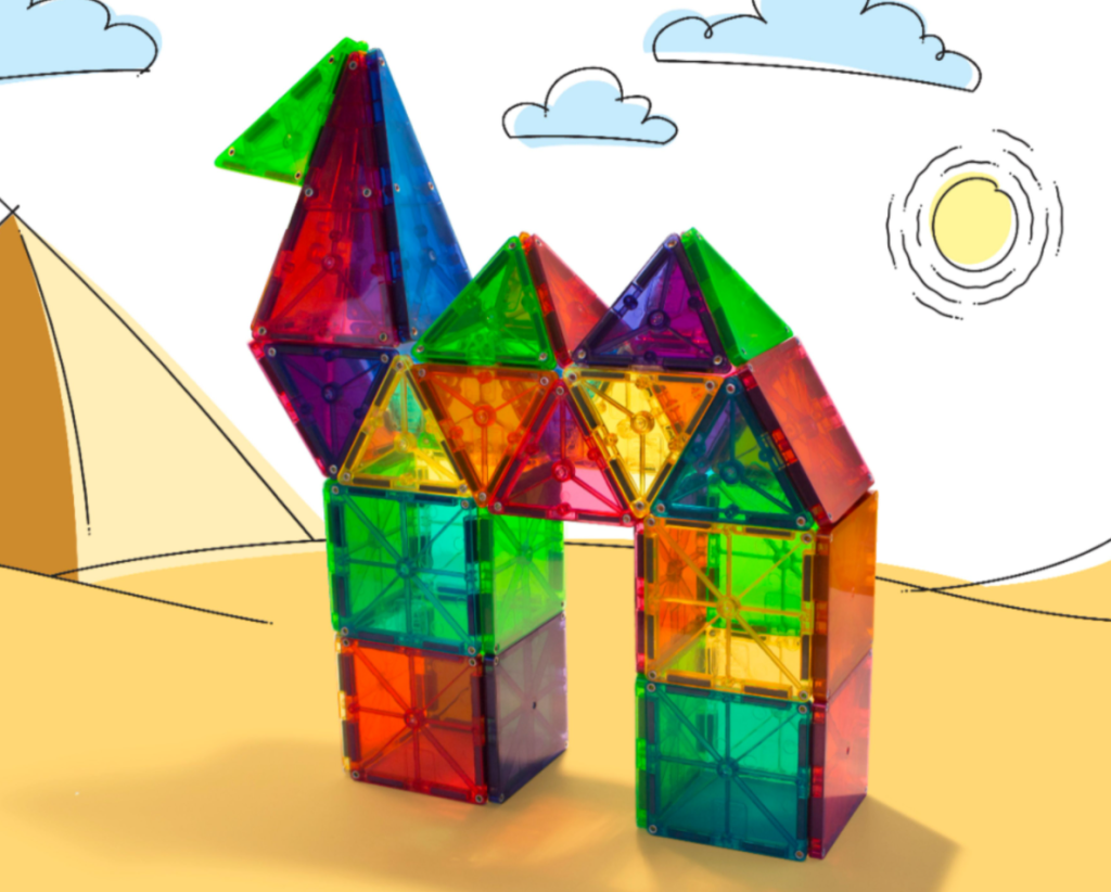 Magnatiles that look like a camel