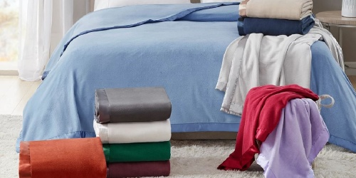 Martha Stewart Soft Fleece Blankets from $11.99 on Macys.com (Regularly $50)