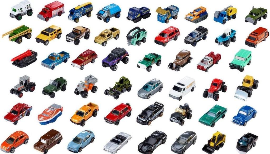 50 matchbox cars