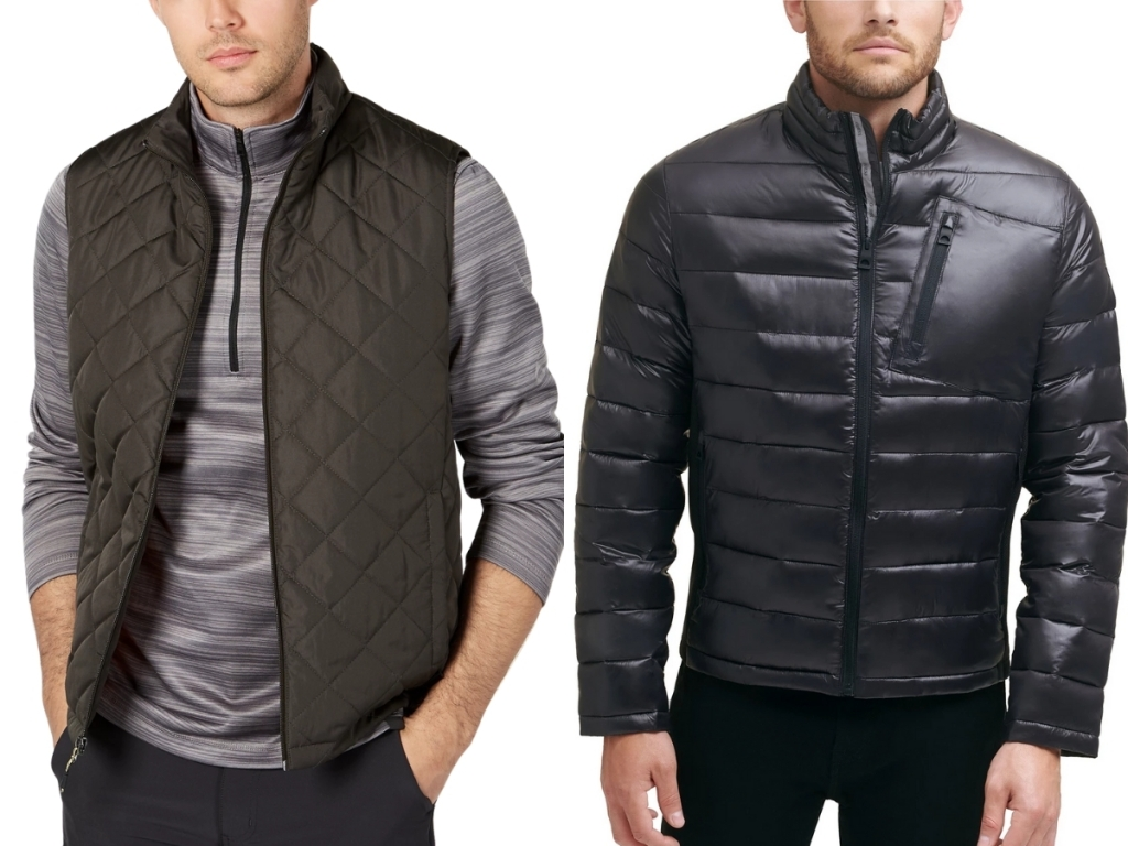men's hawke and co. vest and guess puffer coat from macy's