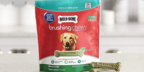 Milk-BoneLarge Brushing Chews Treats 18-Count Only $4.43 Shipped on Amazon (Regularly $9)