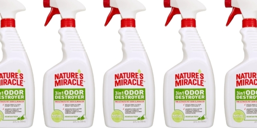 Nature's Miracle 3 in 1 Odor Destroyers Spray Only $2.49 Each Shipped on Amazon