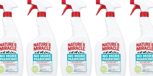 Nature's Miracle Pet Stain & Odor Remover Just $5 on Amazon   Stops Pets from Marking