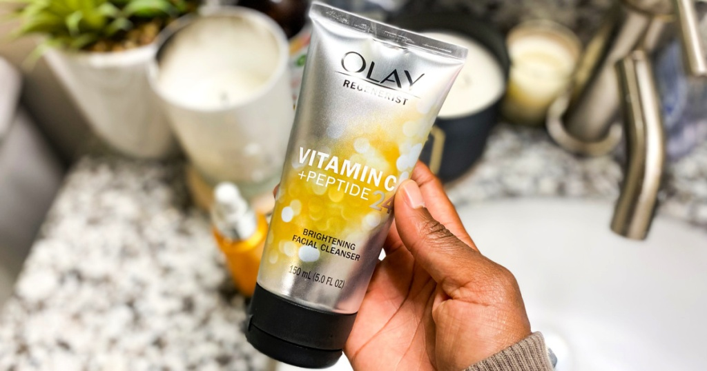 Olay Vitamin C + Peptide24 Exfoliating Facial Cleanser