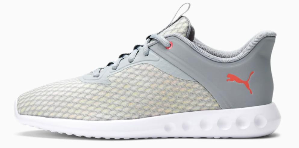 grey and white PUMA sneaker