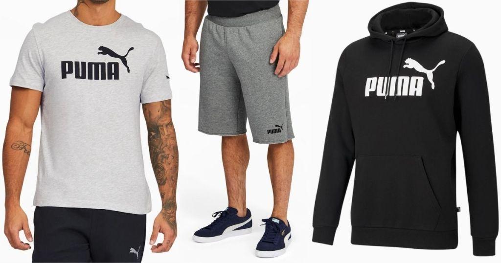 PUMA tee, shorts and sweatshirt